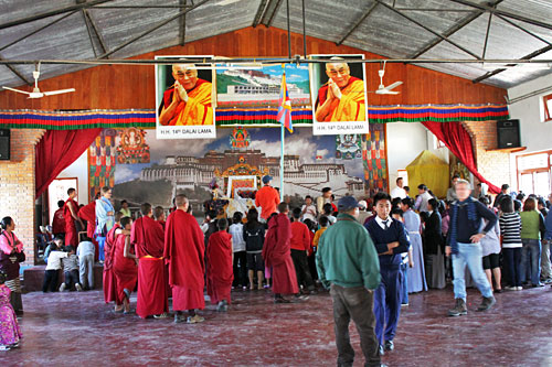 Ceremony and contests in the community hall during International Human Rights Day Celebration at Tashiling Tibetan refugee settlement in Pokhara, Nepal