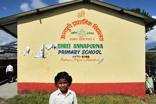 Annapurna Primary School in Pokhara
