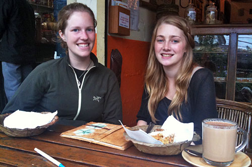 Erin Elliott of Alberta Canada and Rebeca Limmer of Tanzania Australia were taken in by a volunteering scam