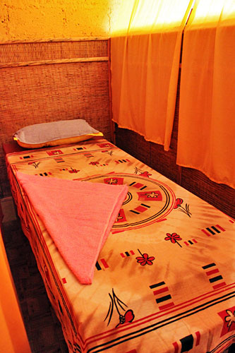 Massage Room at Annapurna Yoga Ashram, specializing in Ayurvedic massage Pokhara Nepal