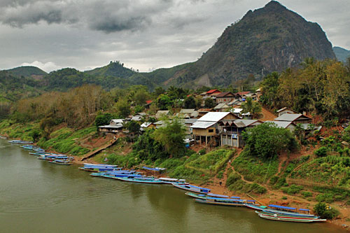 Nong Khiaw, on the banks of the Nam Ou River
