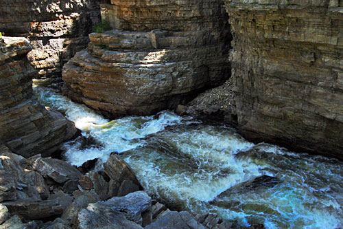 Deep in the bowels of AuSable Chasm