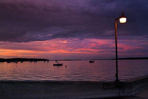 Gorgeous sunsets and strange cloud formations are commonplace over Lake Champlain