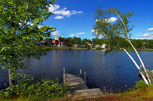 Lake Flower in the village of Saranac Lake