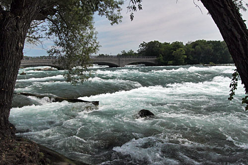 Niagara River, just upstream of where it tumbles off the cliff to become American Falls